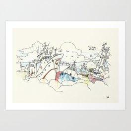 Beiramar avenida Art Print