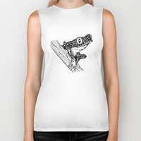 frog Biker Tanks featuring Frog by Emma Barker