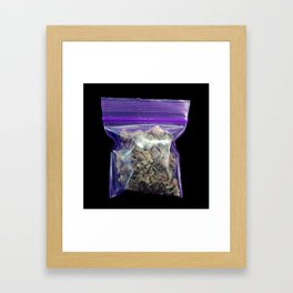 gram of cannabis Framed Art Print