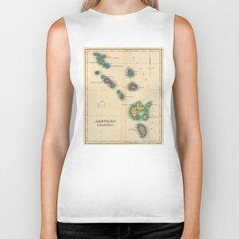 Vintage Map of The Leeward Islands (1822) Biker Tank