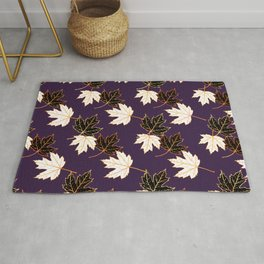 Maple Leaf (Golden Calico) - Plum Rug