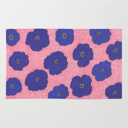 Blooms in Blue Rug