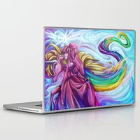 princess bubblegum Laptop & iPad Skins featuring Her Royal Highness - Princess Bubblegum by Poofette