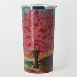 Pink Tree Travel Mug