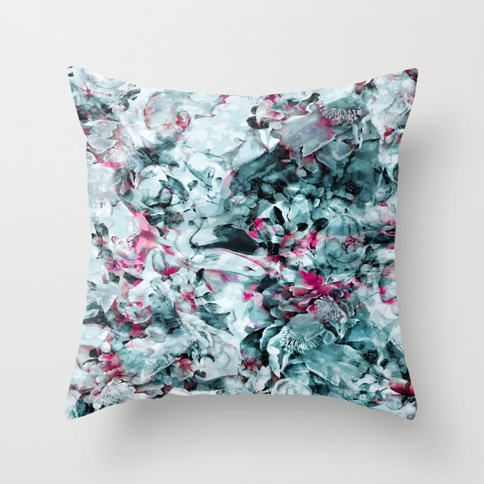 FLORAL WAVES Throw Pillow