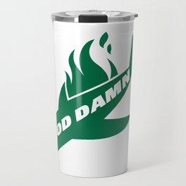 Jets God Dam Funny New York Football Travel Mug