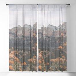 Zion Canyon through the Flora Sheer Curtain