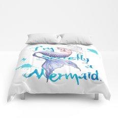 Secretly a Mermaid Comforters