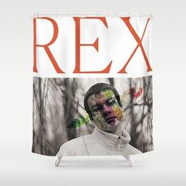 REX indie,collage bad,colage artist,collage papper,papper,artist,stuff,dope,man,indo, Shower Curtain