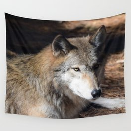 The Eyes of a Wolf Wall Tapestry