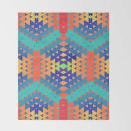 Indigena Fractal 2 Throw Blanket