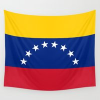 1989 Wall Tapestries featuring The national flag of the Bolivarian Republic of Venezuela -  Authentic version by Bruce Stanfield