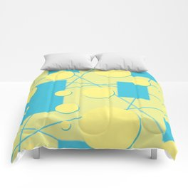 Geo Shape Play in Blueberry Lemonade Comforters