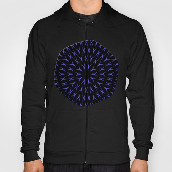 PCT2 Fractal in Brilliant Blue Hoody