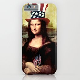 Patriotic Mona Lisa iPhone Case