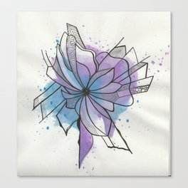 Explosion Flower Blue and Purple Canvas Print
