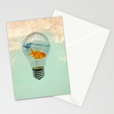 goldfish thinking Stationery Cards