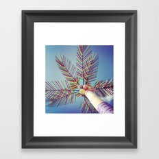 Plastic Palm Framed Art Print