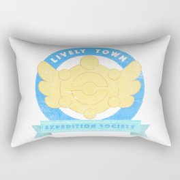 Lively Town Expedition Society Rectangular Pillow