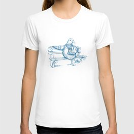 Cup O' Coffee NYC Style_pigeon T-shirt