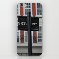 221b iPhone & iPod Skins featuring 221B by Sandrine Bandura