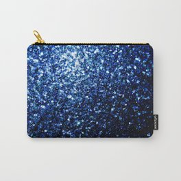 Beautiful Dark Blue glitter sparkles Carry-All Pouch