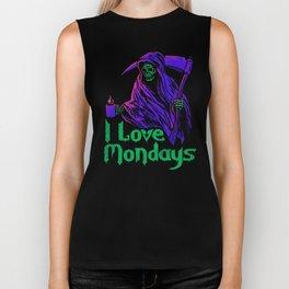 I Love Mondays Biker Tank