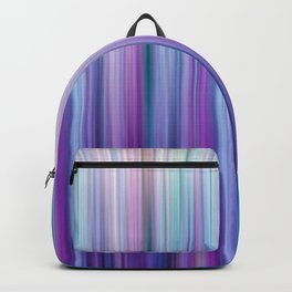Abstract Purple and Teal Gradient Stripes Pattern Backpack