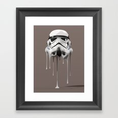 Stormtrooper Melting Framed Art Print