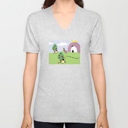 Off with Her Head! Unisex V-Neck