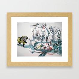 Dream world is filled with all kinds of strange... Framed Art Print