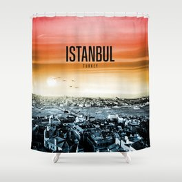 Istanbul Wallpaper Shower Curtain