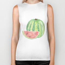 Watermelon Watercolour  Biker Tank