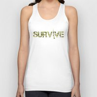 army Tank Tops featuring Survive (Army) by eARTh