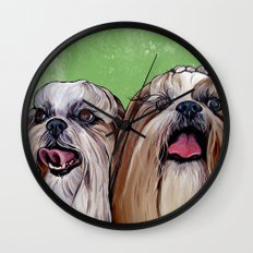 Shih Tzu Dog Art Wall Clock