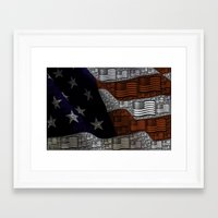 american Framed Art Prints featuring American by Tracy66