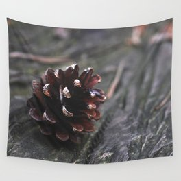 Pinecone - Nature Photography Wall Tapestry
