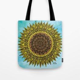 Zentangle - Sunflower Sunshine  Tote Bag