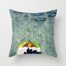 Oh! Raining Night Throw Pillow