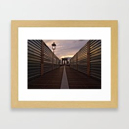 Brooklyn Bridge Walk Framed Art Print