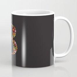 Retro Floral Letter B Coffee Mug