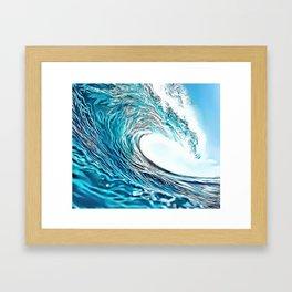 Turquoise Wave Airbrush Artwork Framed Art Print