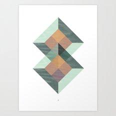 Translucent geometry Art Print