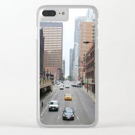 Lose the Blues in Chicago Clear iPhone Case