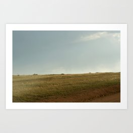 GRADATION OF THE FIELD Art Print