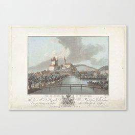 Gezicht op Thun, Jean François Janinet, Claude Joseph Vernet, M. Graff, 1762 - 1785 Canvas Print