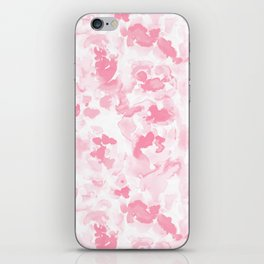 Abstract Flora Millennial Pink iPhone Skin