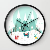 frozen Wall Clocks featuring Frozen by General Design Studio