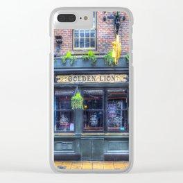 The Golden Lion Pub York Clear iPhone Case
