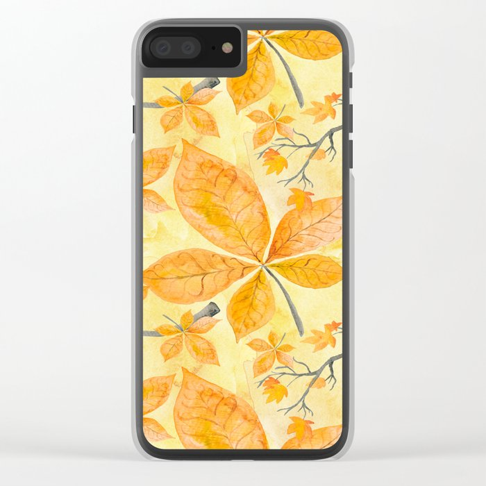 Autumn leaves #11 Clear iPhone Case